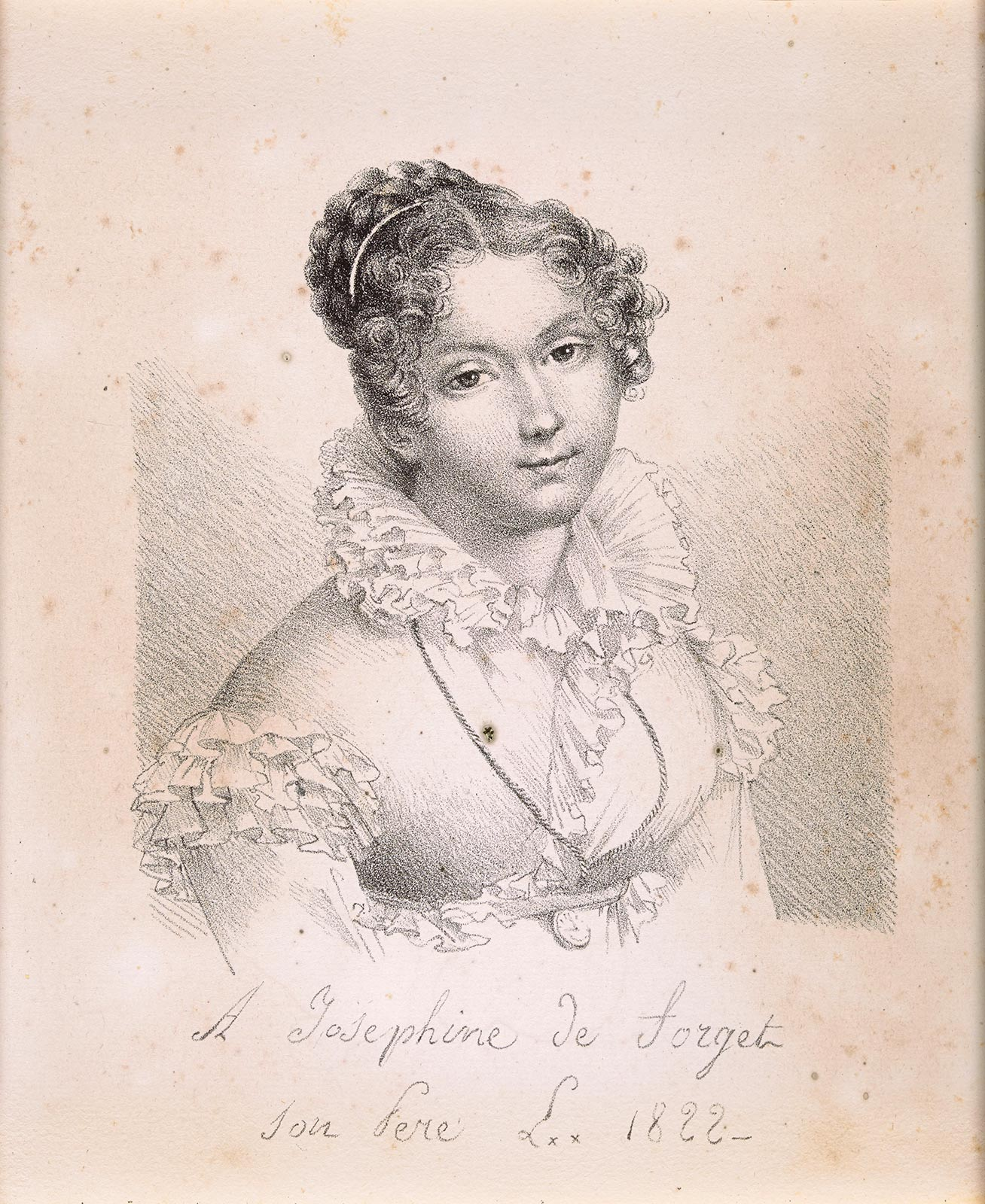 Portrait of Joséphine de Forget, born Lavalette