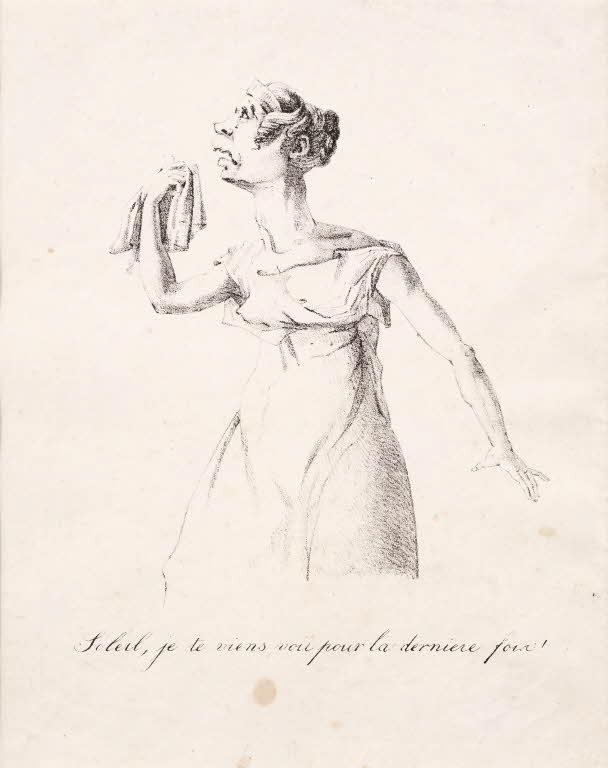 Caricature of Mademoiselle George